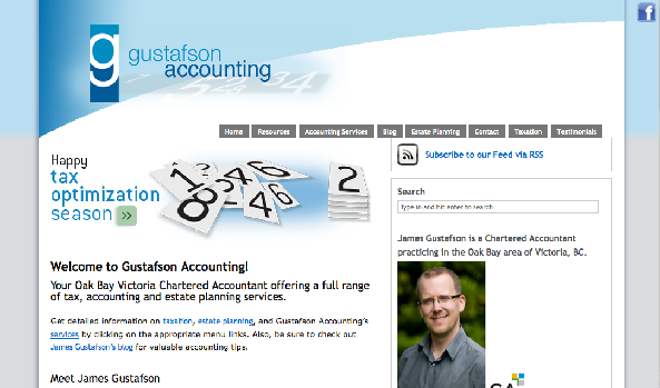 Gustafsonaccounting.com Custom WordPress